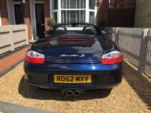 Exterior of Porsche Boxster 986 is in excellent condition.