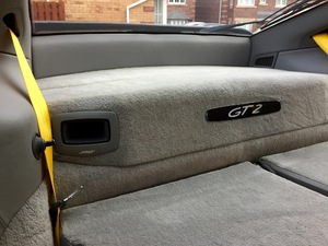 Full Dark Grey Leather trim with Yellow seat belts (Excellent condition)
