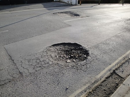 Hitting a pothole is a common cause of misalignment.