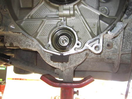 Flange removed - bearing exposed