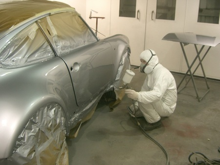 The Leeds workshop has a Porsche bodyshop