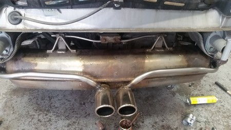 The Porsche Boxster 986 exhaust bypass.